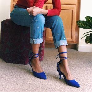 JustFab Shoes - Blue pumps.